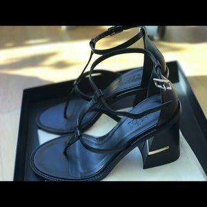 Tibi black sandals